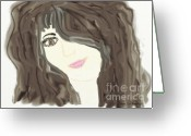 Gina Digital Art Greeting Cards - Lost In Thought Greeting Card by Gina Manley