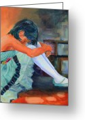 Dance Shoes Greeting Cards - Lost in Thought Greeting Card by Sue  Darius