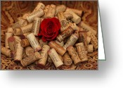 Wine Bottle Prints Greeting Cards - Lost Love Greeting Card by Moon Time Photo