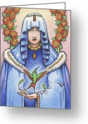 Maiden Greeting Cards - Lost Loves Visitation Greeting Card by Amy S Turner
