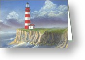 Coast Guard Greeting Cards - Lost Point Light Greeting Card by Jerry McElroy