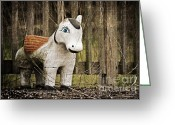 Forgotten Greeting Cards - Lost Pony Greeting Card by Scott Pellegrin