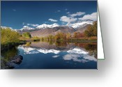 The West Greeting Cards - Lost River Range Reflection Greeting Card by Leland Howard