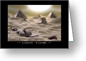 Sand Digital Art Greeting Cards - Lost Time Greeting Card by Mike McGlothlen