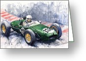 Motorsport Greeting Cards - Lotus 18 F2 Greeting Card by Yuriy  Shevchuk