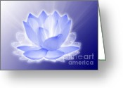 Iphones Greeting Cards - Lotus Flower Greeting Card by Saleires Art
