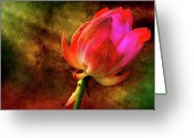 Lotus Greeting Cards - Lotus in texture - a present for a friend Greeting Card by Rohit Chawla