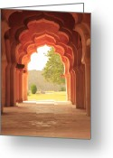 Tranquility Greeting Cards - Lotus Mahal Greeting Card by Jon Anderson