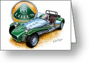 David Kyte Greeting Cards - Lotus Super 7  Greeting Card by David Kyte