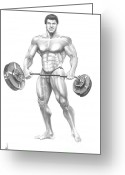 Muscles Greeting Cards - Lou Ferrigno Greeting Card by Murphy Elliott