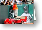 World Series Greeting Cards - Lou Seal Fans Greeting Card by Tap On Photo