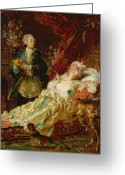 Barry Greeting Cards - Louis XV and Madame Dubarry Greeting Card by  Gyula Benczur