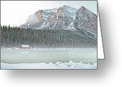 Winter Photos Greeting Cards - Louise Cabin Greeting Card by Andrea Hazel Ihlefeld