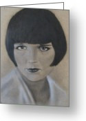 Icon  Pastels Greeting Cards - Louise Greeting Card by Lynet McDonald