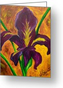 Louisiana Greeting Cards - Louisiana Iris Fleur de Lis Greeting Card by Jessica Stuntz