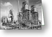 Crack Pipe Greeting Cards - Louisiana: Oil Refinery Greeting Card by Granger