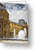 Historic Landmark Greeting Cards - Louvre Greeting Card by Elena Elisseeva