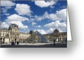 Ile De France Greeting Cards - Louvre museum. Paris Greeting Card by Bernard Jaubert