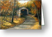 Covered Bridge Painting Greeting Cards - Loux Covered Bridge Greeting Card by Kit Dalton