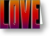 Amor Photo Greeting Cards - Love 5 Greeting Card by Andrew Fare