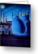 Blue Moon Greeting Cards - Love by The Pale Moonlight Greeting Card by Chris Mackie