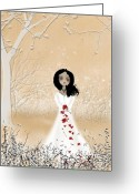 Sweetheart Greeting Cards - Love Can Touch Us One Time Greeting Card by Charlene Zatloukal