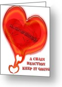 True Feelings Greeting Cards - Love Chain Greeting Card by Debra     Vatalaro