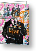 America Art Greeting Cards - Love Chaplin Greeting Card by Darren Scicluna
