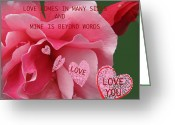 True Feelings Greeting Cards - Love Comes Incard Many Sizes Card Greeting Card by Debra     Vatalaro