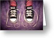Sneakers Greeting Cards - Love Greeting Card by David Forester