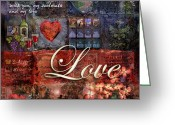 Hearts Greeting Cards - Love Greeting Card by Evie Cook