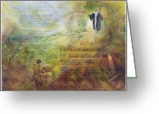 Plenty Greeting Cards - Love Forgiveness Reconciliation Greeting Card by Judy Dodds