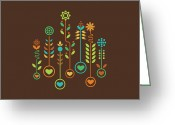 Pattern Greeting Cards - Love Garden Greeting Card by Budi Satria Kwan