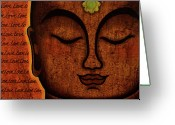 Tibetan Buddhism Greeting Cards - Love Greeting Card by Gloria Rothrock