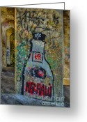 Logos Greeting Cards - Love Graffiti Greeting Card by Susan Candelario