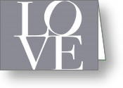 In Love Greeting Cards - Love in Grey Greeting Card by Michael Tompsett