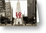 Philly Digital Art Greeting Cards - Love in Philadelphia Greeting Card by Bill Cannon