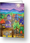 Christ Child Greeting Cards - Love In the City of David Greeting Card by Stephanie Temple