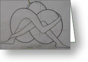 Love Reliefs Greeting Cards - Love In Wrought Iron Greeting Card by Petrit Metohu
