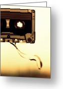 Destruction Greeting Cards - Love Is A Mixed Tape Greeting Card by Taryn