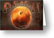Peach Greeting Cards - Love is a Peach Greeting Card by Joel Payne