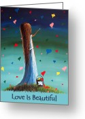 Nursery Decor Greeting Cards - Love Is Beautiful by Shawna Erback Greeting Card by Shawna Erback