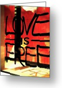 Displays Greeting Cards - Love is Free Greeting Card by Cheryl Young