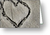 Iphonesia Greeting Cards - Love Is Like Writing In The Sand.. Greeting Card by Marianna Mills
