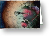 Unlock Digital Art Greeting Cards - Love Is the Key Greeting Card by Bill Cannon