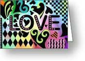 Sentiments Greeting Cards - Love Greeting Card by Jennifer Heath Henry