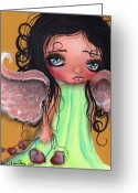Angel Painting Greeting Cards - Love Keeper Greeting Card by  Abril Andrade Griffith