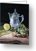 Irina Greeting Cards - Love Light Lemon Greeting Card by Irina Sztukowski
