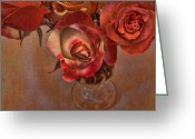 Clear Glass Greeting Cards - Love Offering Greeting Card by Bonnie Bruno