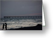 Panama City Beach Greeting Cards - Love on the Beach Greeting Card by Paul  Wilford